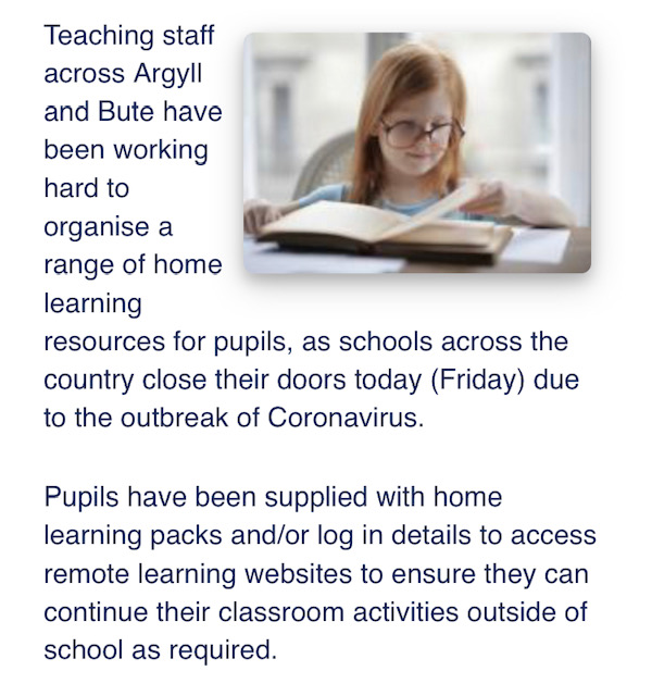 Argyll Bute coronavirus