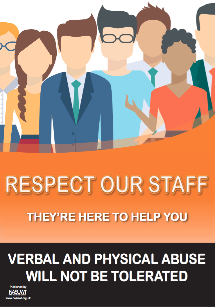 Respect our staff poster