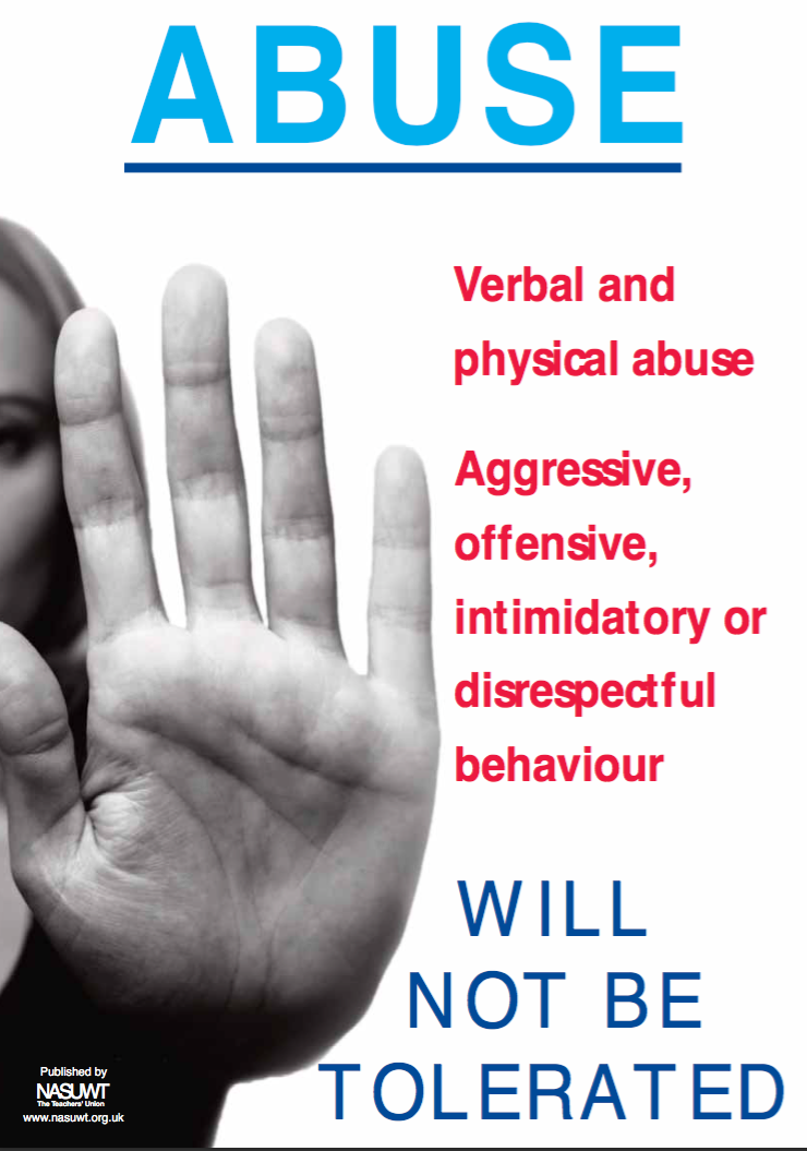 Abuse will not be tolerated poster