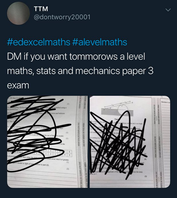 Edexcel A level maths exam leak