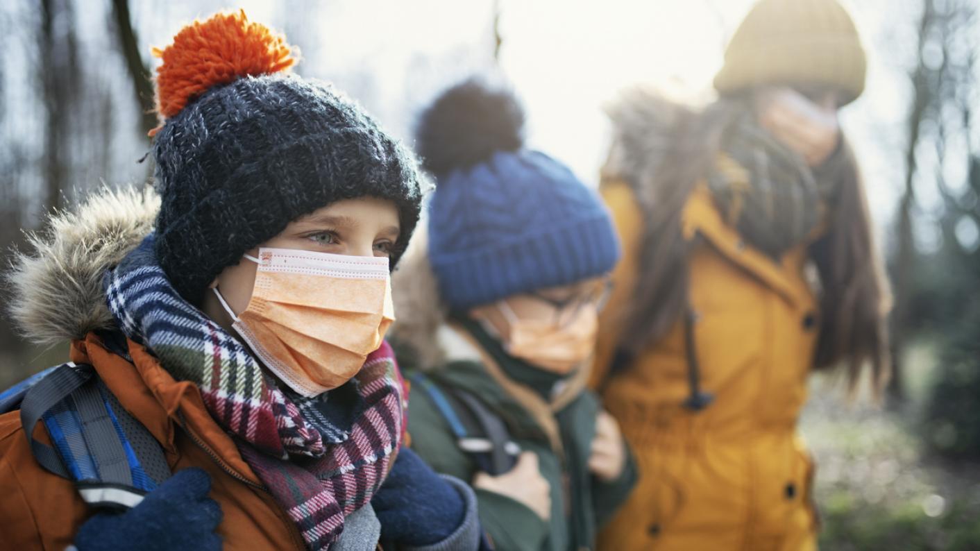 children in masks