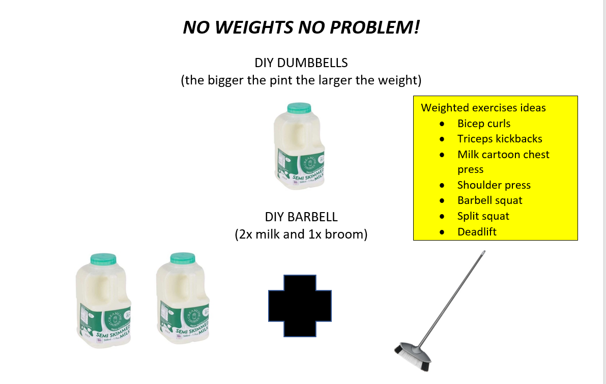 An easy way to build weights if you do not have any at home