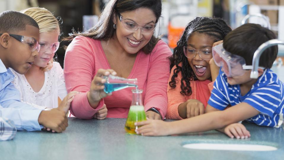 Primary school science lesson