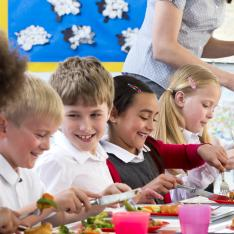 The rollout of free school meals for all primary pupils in Scotland is to start in August