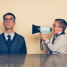 SEND: Man deliberately ignoring boy who shouts at him through megaphone