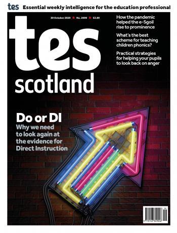 Tes Scotland cover 30/10/20