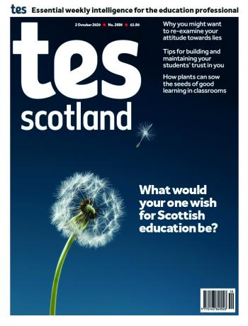 Tes Scotland cover 02/10/20