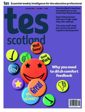 Tes Scotland cover 09/10/20