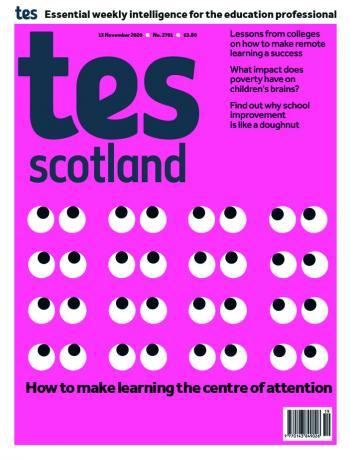 Tes Scotland cover 13/11/20