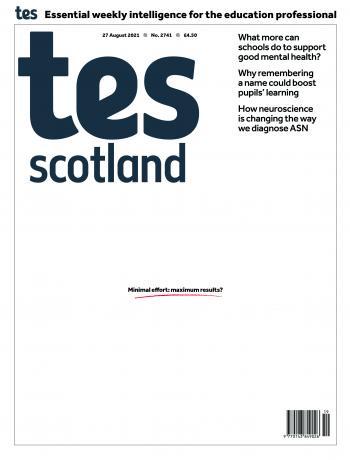 Tes Scotland cover 27/08/21