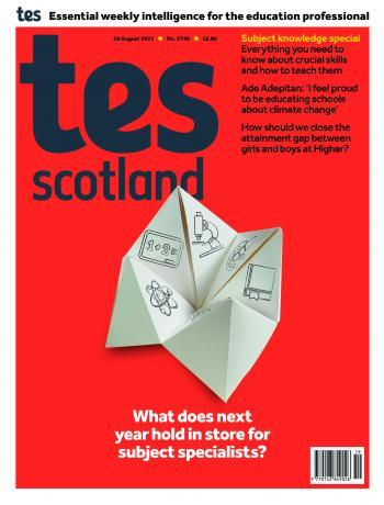 Tes Scotland cover 20/08/21