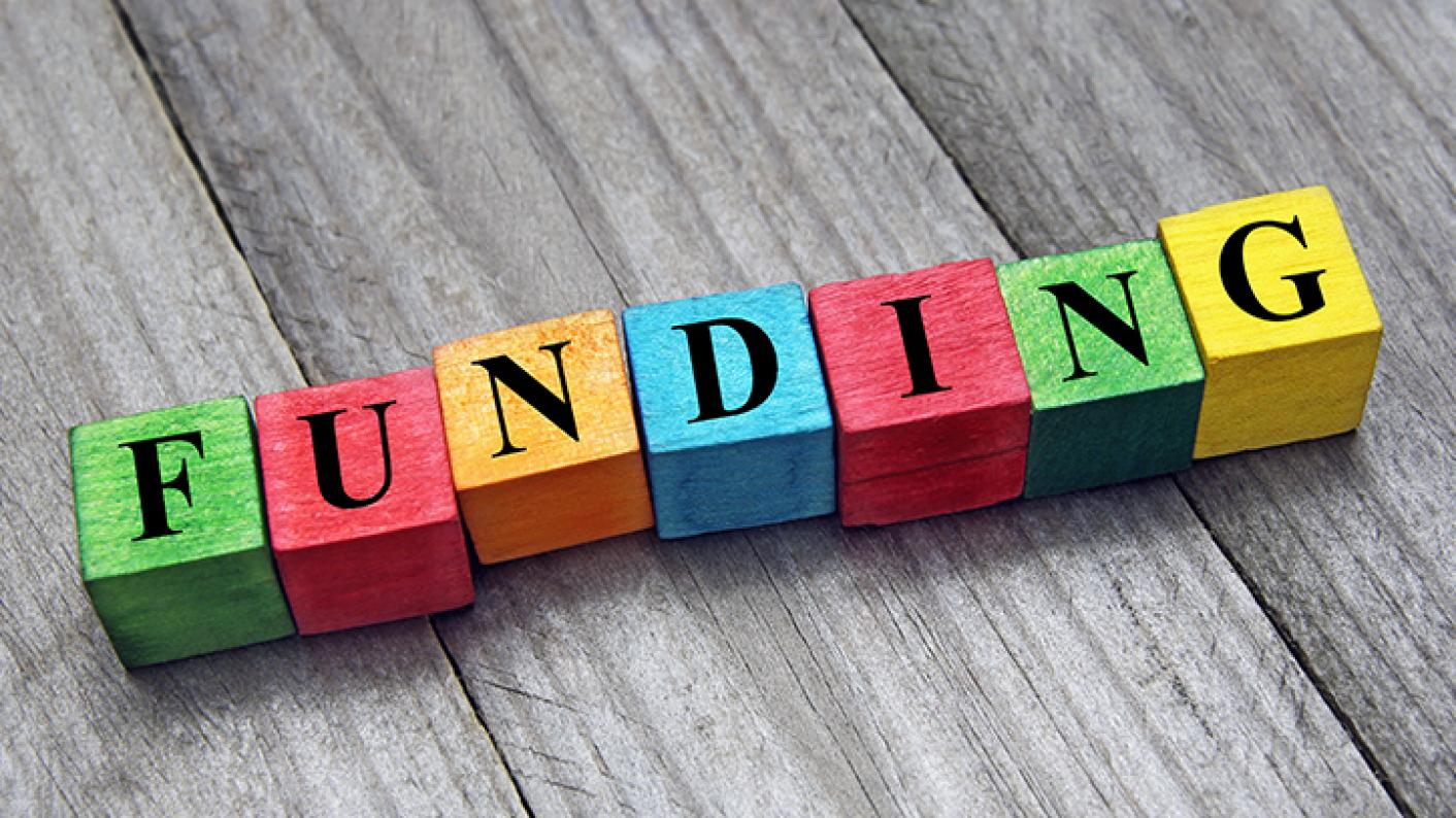 """Building Blocks That Spell Out """"Funding"""" To Represent SKE Bursary"""