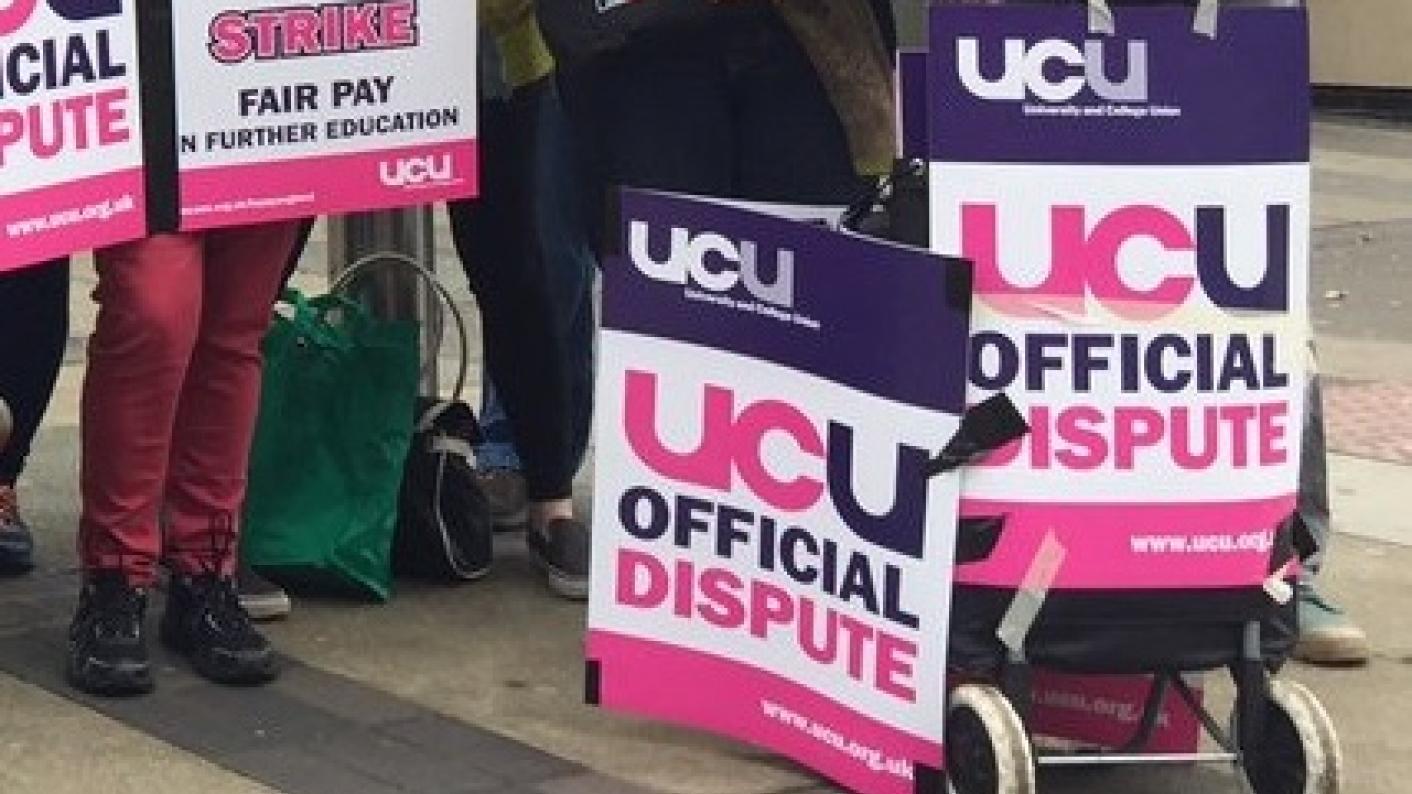 colleges strike pay UCU AoC