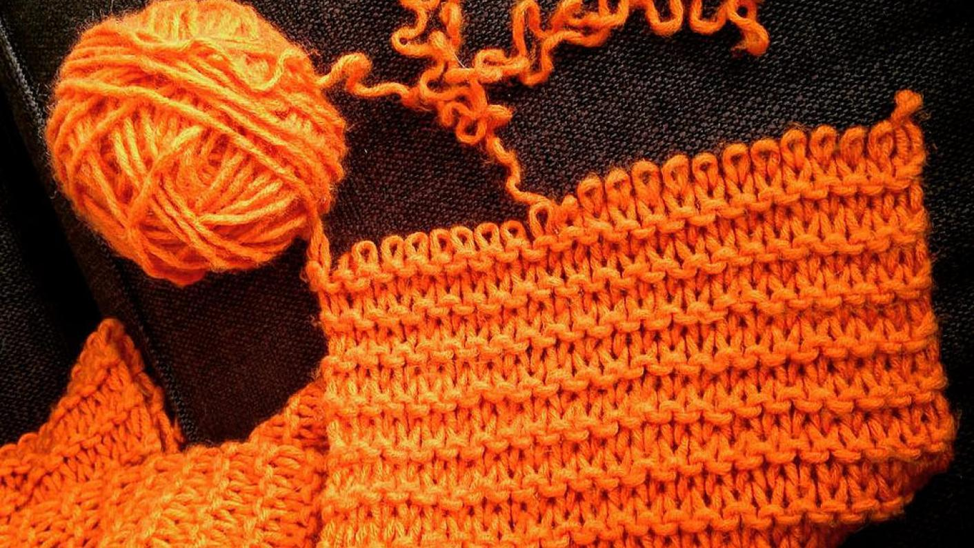 Knitting for exam stress