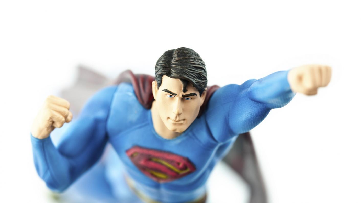 Superman as PowerPoint superhero