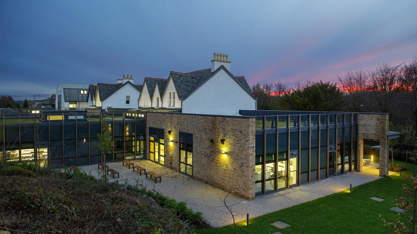 The new building at St Columba's School, on the outskirts of Glasgow