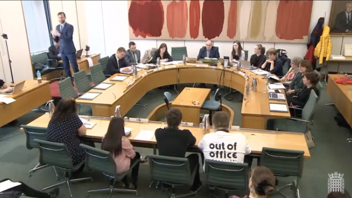 young people with SEND at Education Select Committee