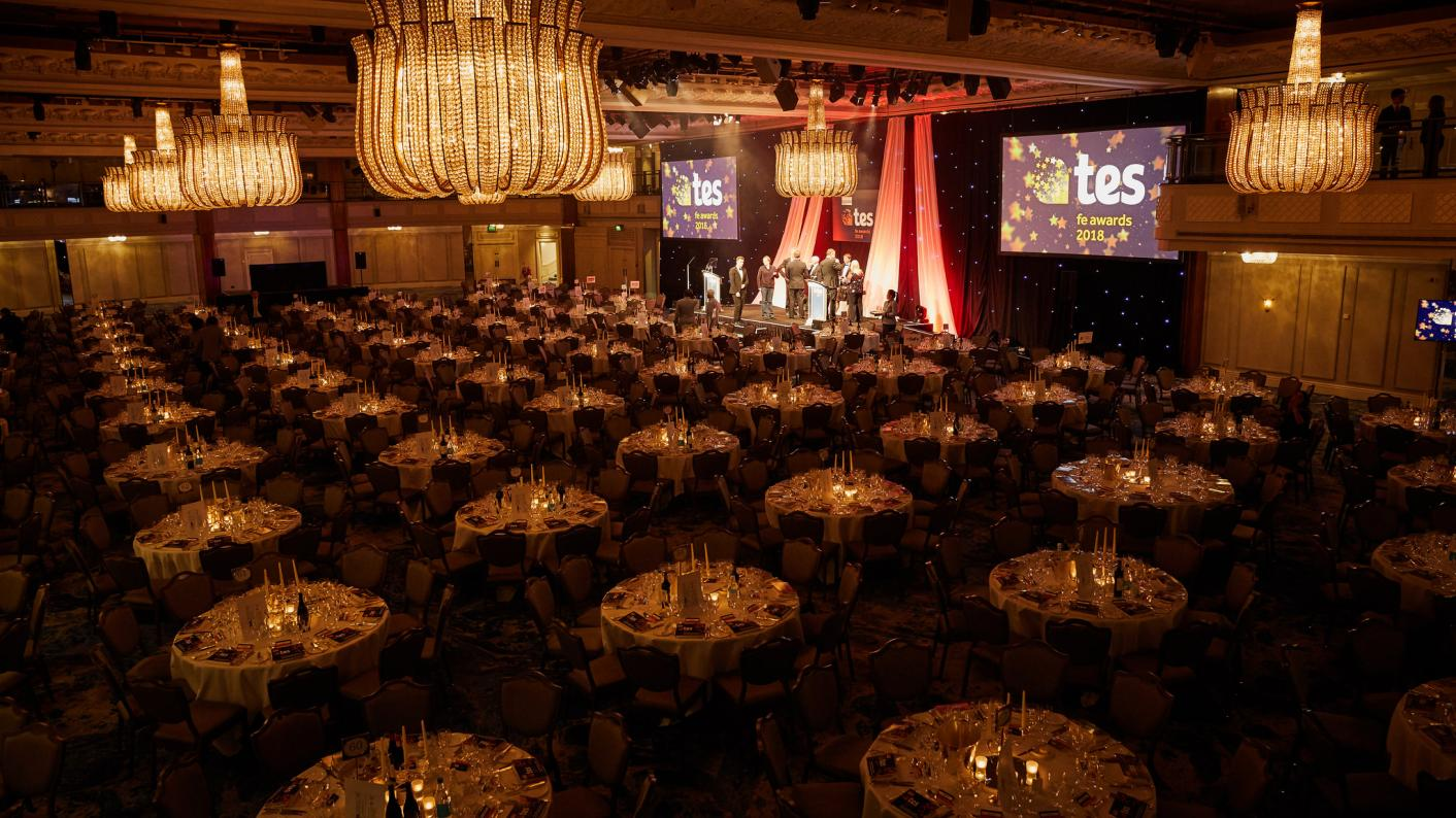 Tes FE awards colleges FE vocational scotland ireland wales