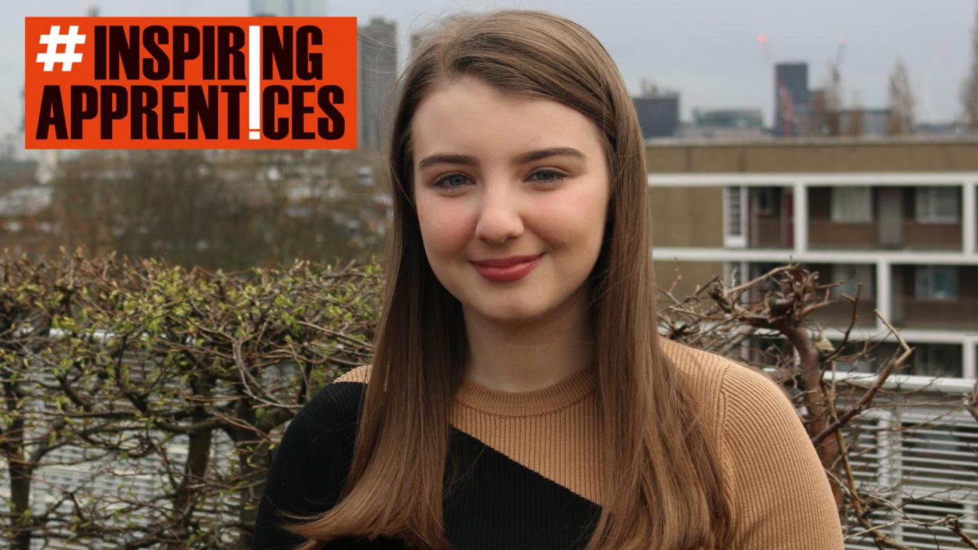 High-achiever Morgan Lyons chose an apprenticeship and hasn't looked back