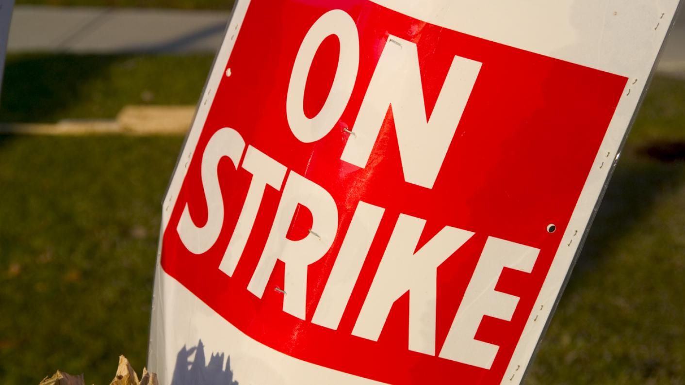 Staff strike at health scare schools with 'blue water' in North Lanarkshire, Scotland