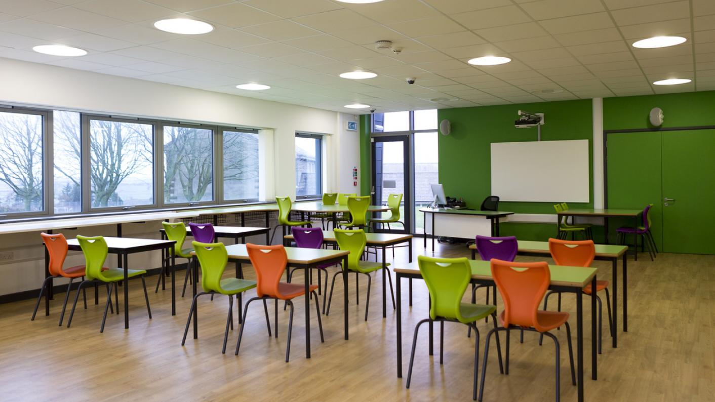 A tidy, quiet classroom