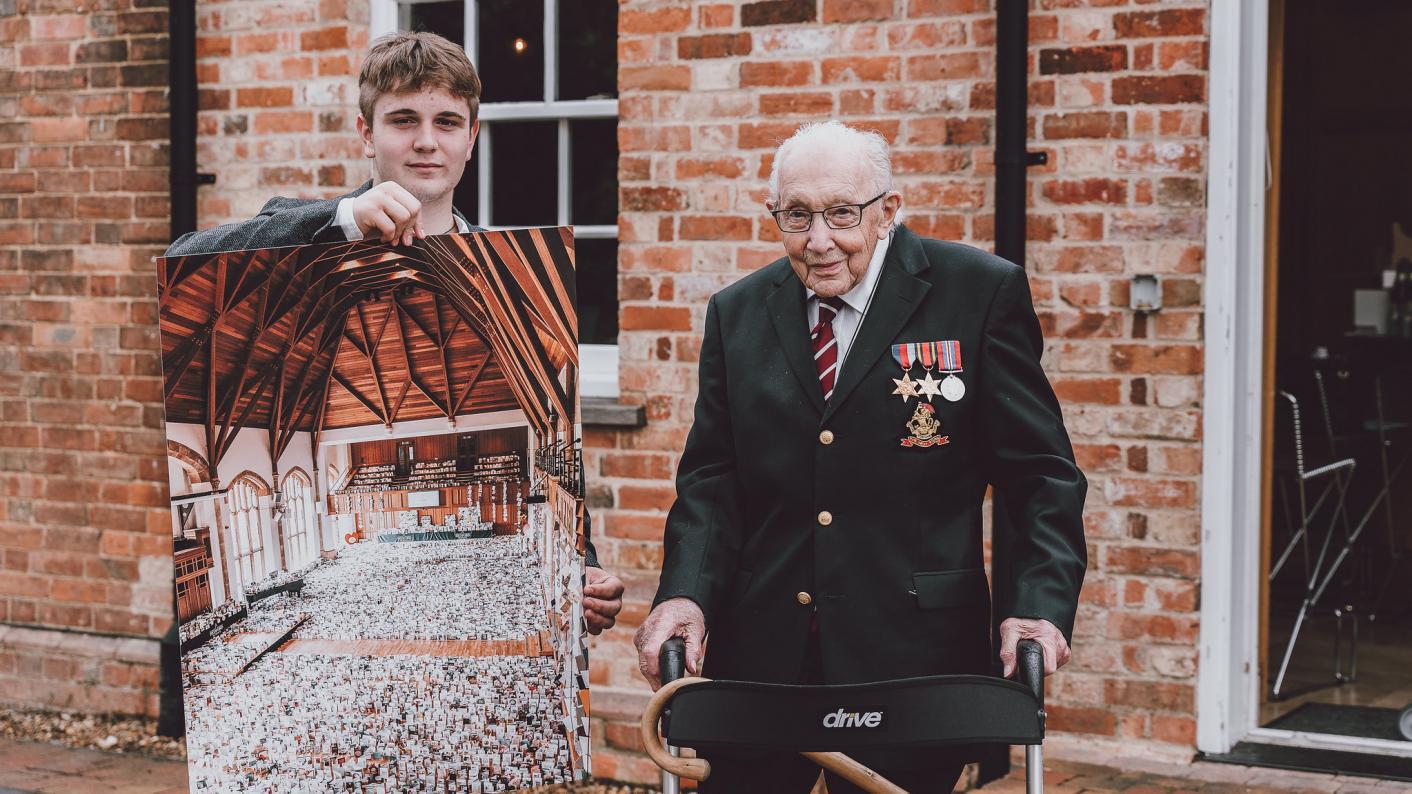 Captain Tom: Benjie Ingram-Moore and his grandad Captain Sir Tom Moore