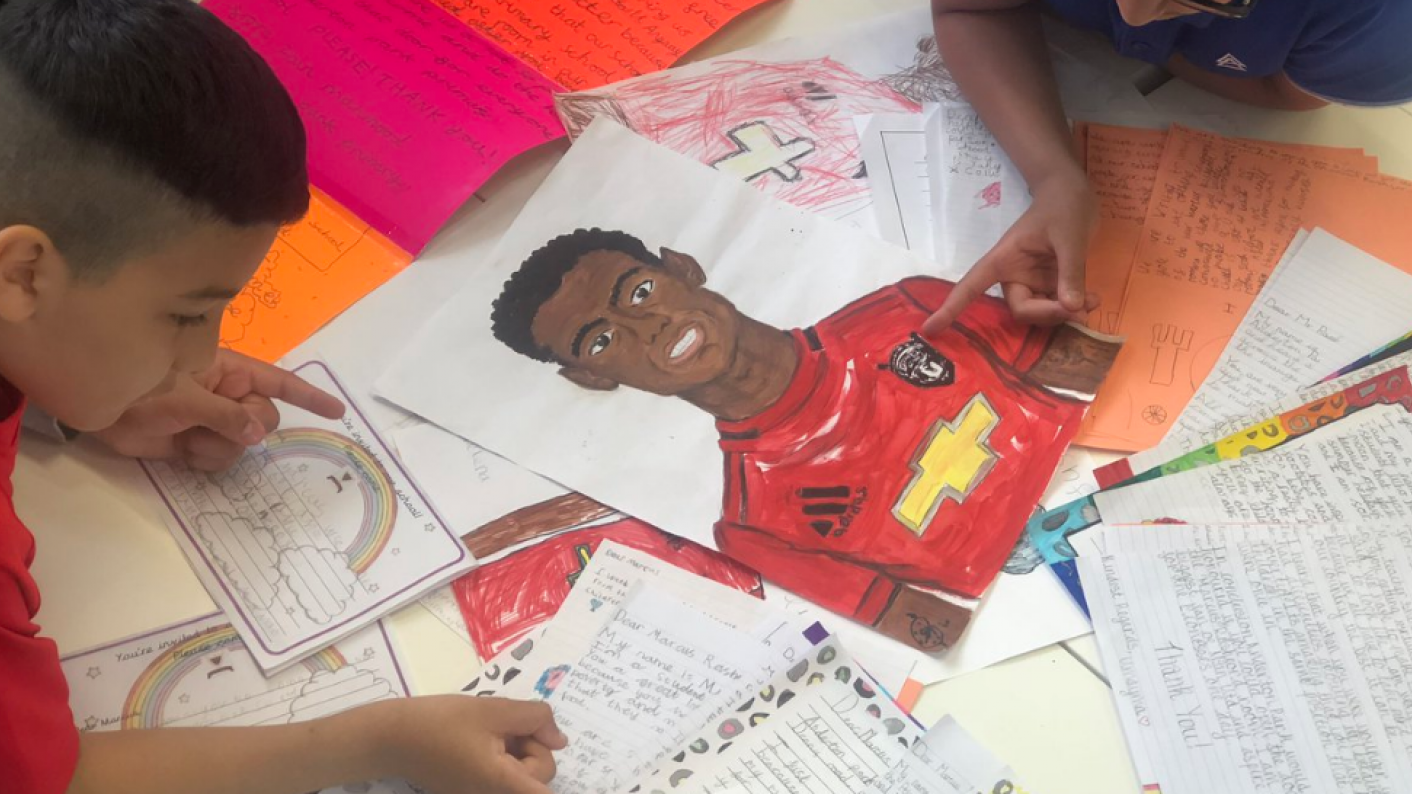 Free school meals: Manchester United footballer Marcus Rashford has thanked a school for naming a room in his honour after his successful campaign on free school meals