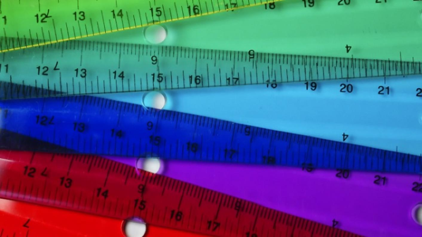 Colourful Rulers To Be Used During A Primary Maths Measurement Lesson