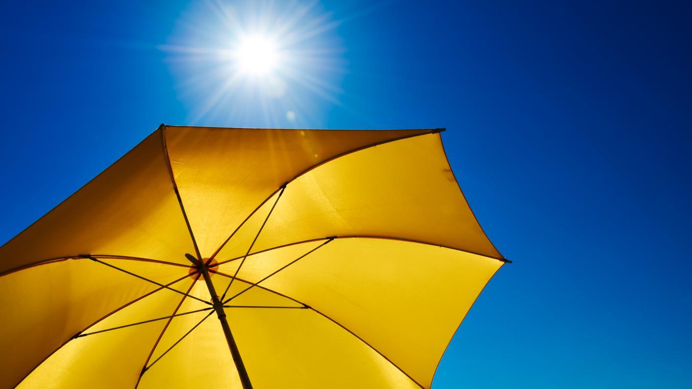 A parasol in the sun