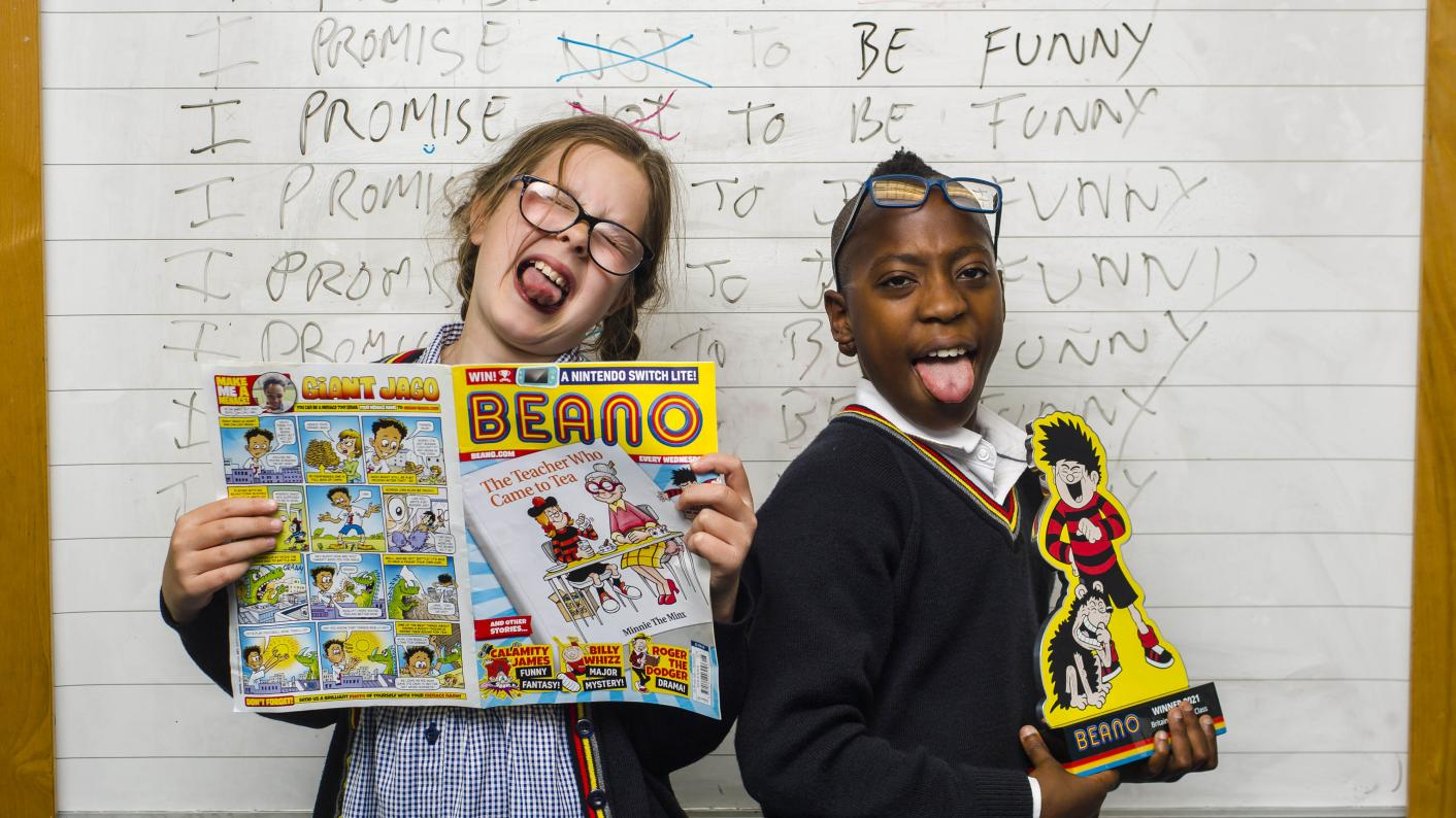 The country's 'funniest primary schools' have been revealed in a Beano school jokes competition (Copyright holder: PA WIRE Copyright notice: PA Wire/PA Images Usage terms: EDITORIAL USE ONLY Picture by: Euan Cherry)