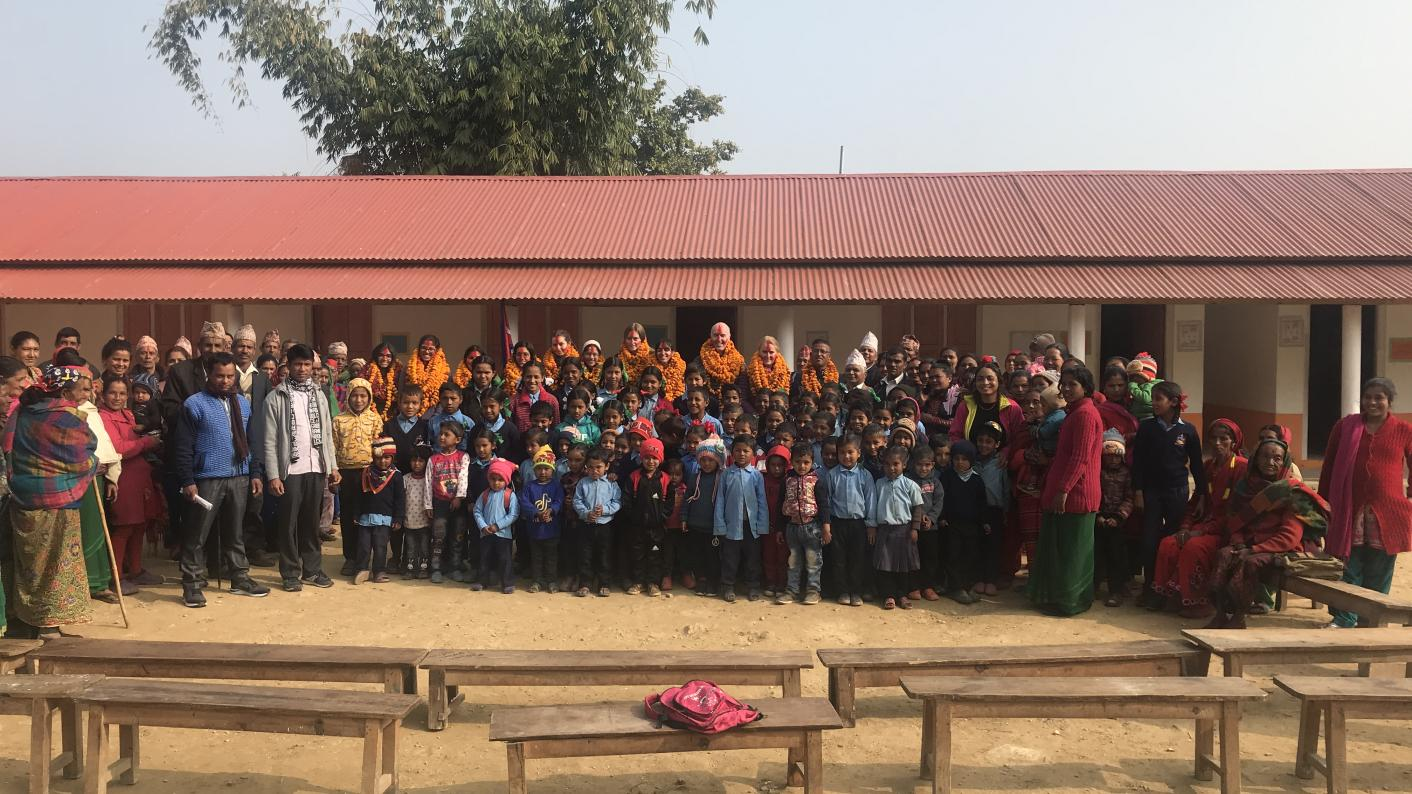 International school partnerships: The new school in Jaisithok and the visiting pupils from Dubai College