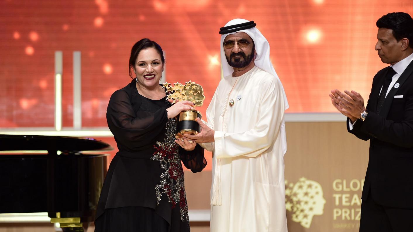 Andria Zafirakou wins the Global Teacher Prize last year
