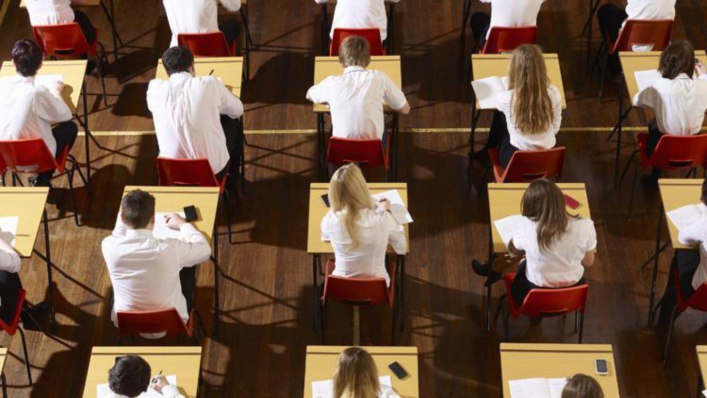Exams, exam stress, pupils, secondary, GCSEs