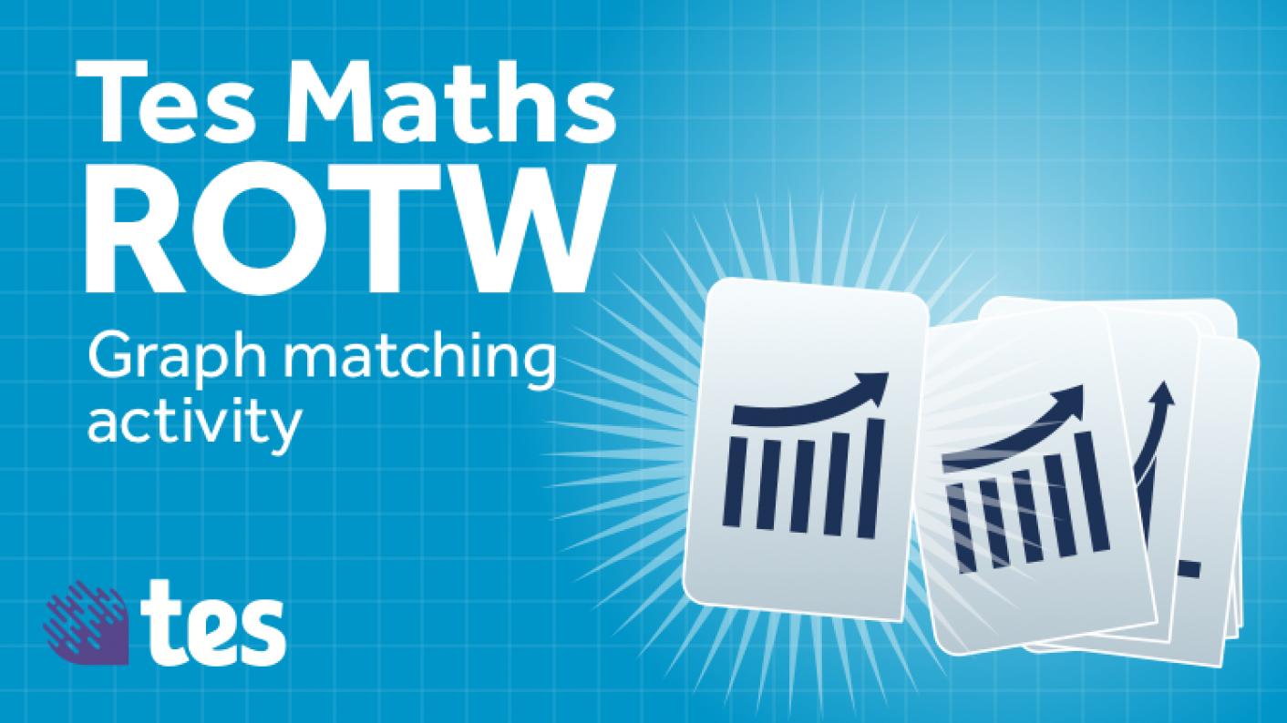 Tes Maths ROTW: Graph Matching Activity