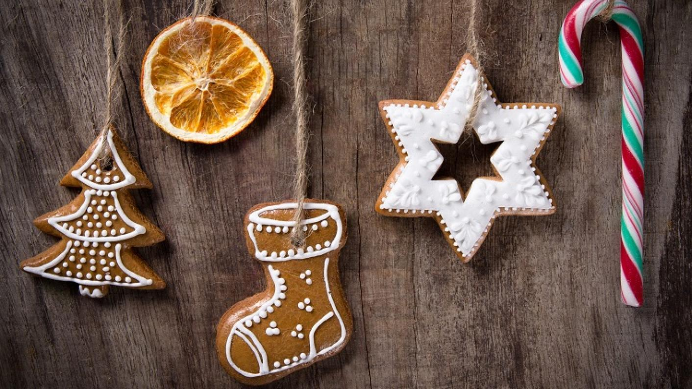 Christmas tree, star, biscuits and dried orange, exploring Christmas tranditions resources