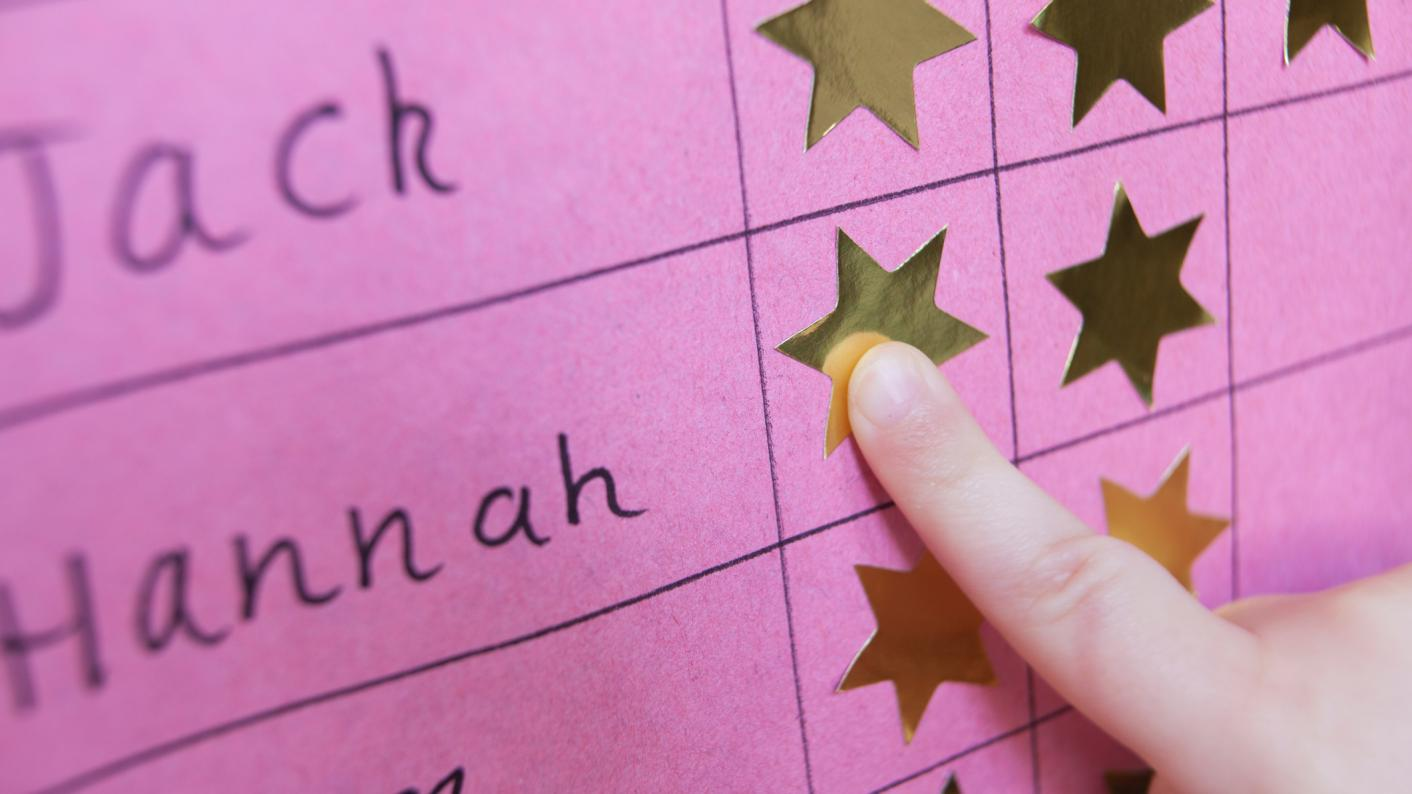 Teacher Drawing A Smiley Face To Recognise Good Behaviour