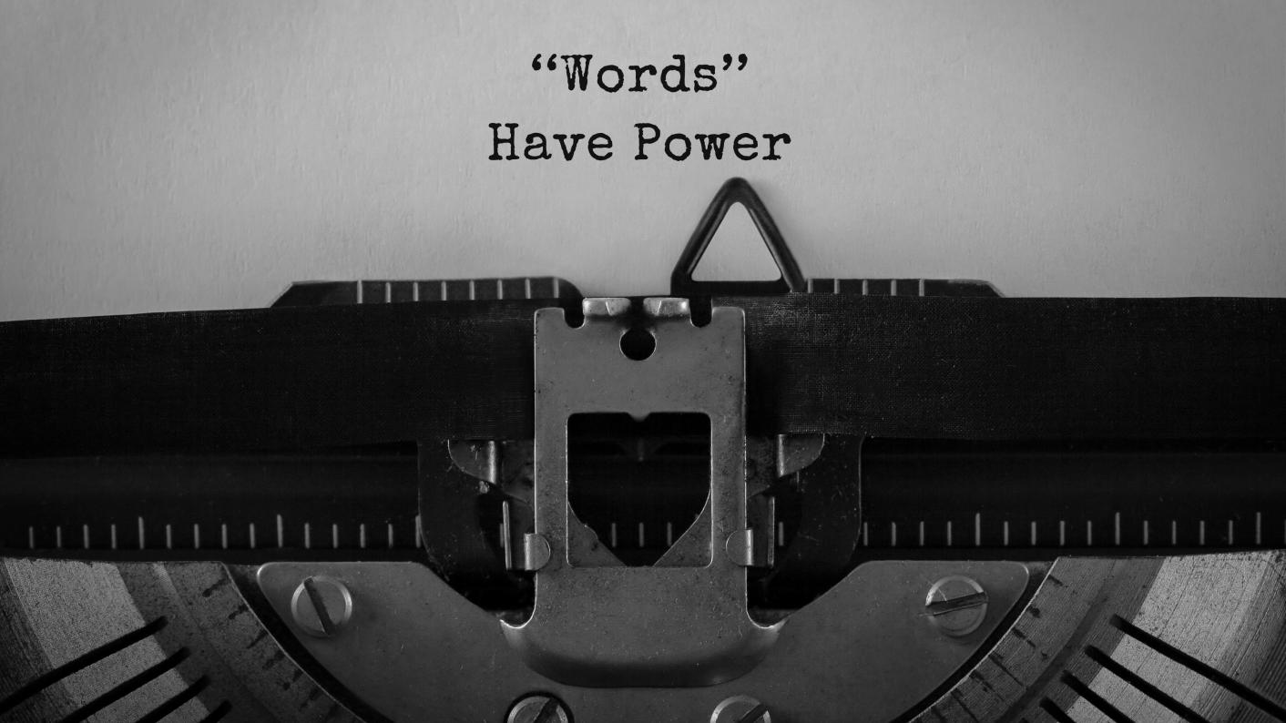 """Type Writer With """"words Have Power"""" Sentence, Persuasive Writing Resources For Secondary Students"""