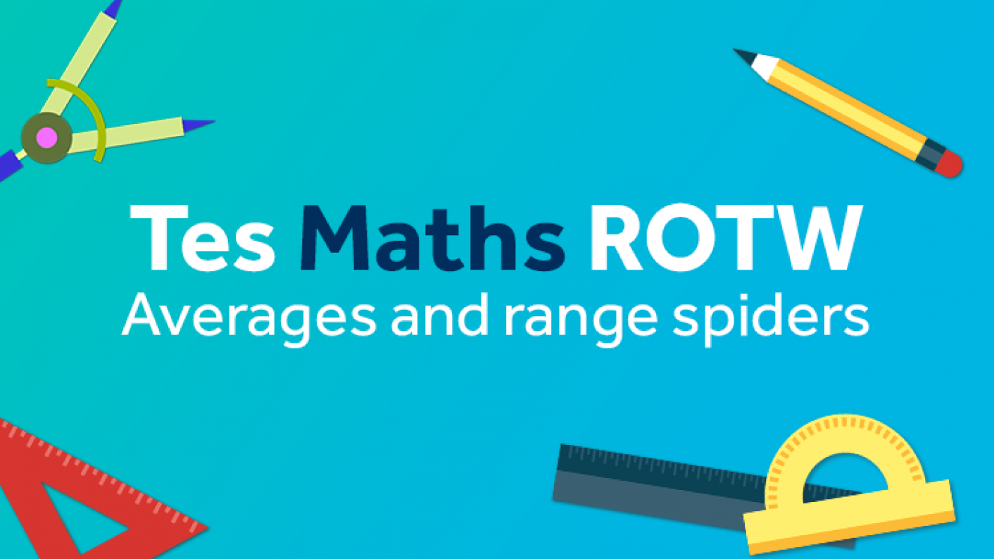 Averages & Range, Spider Diagrams, KS3, KS4, KS5
