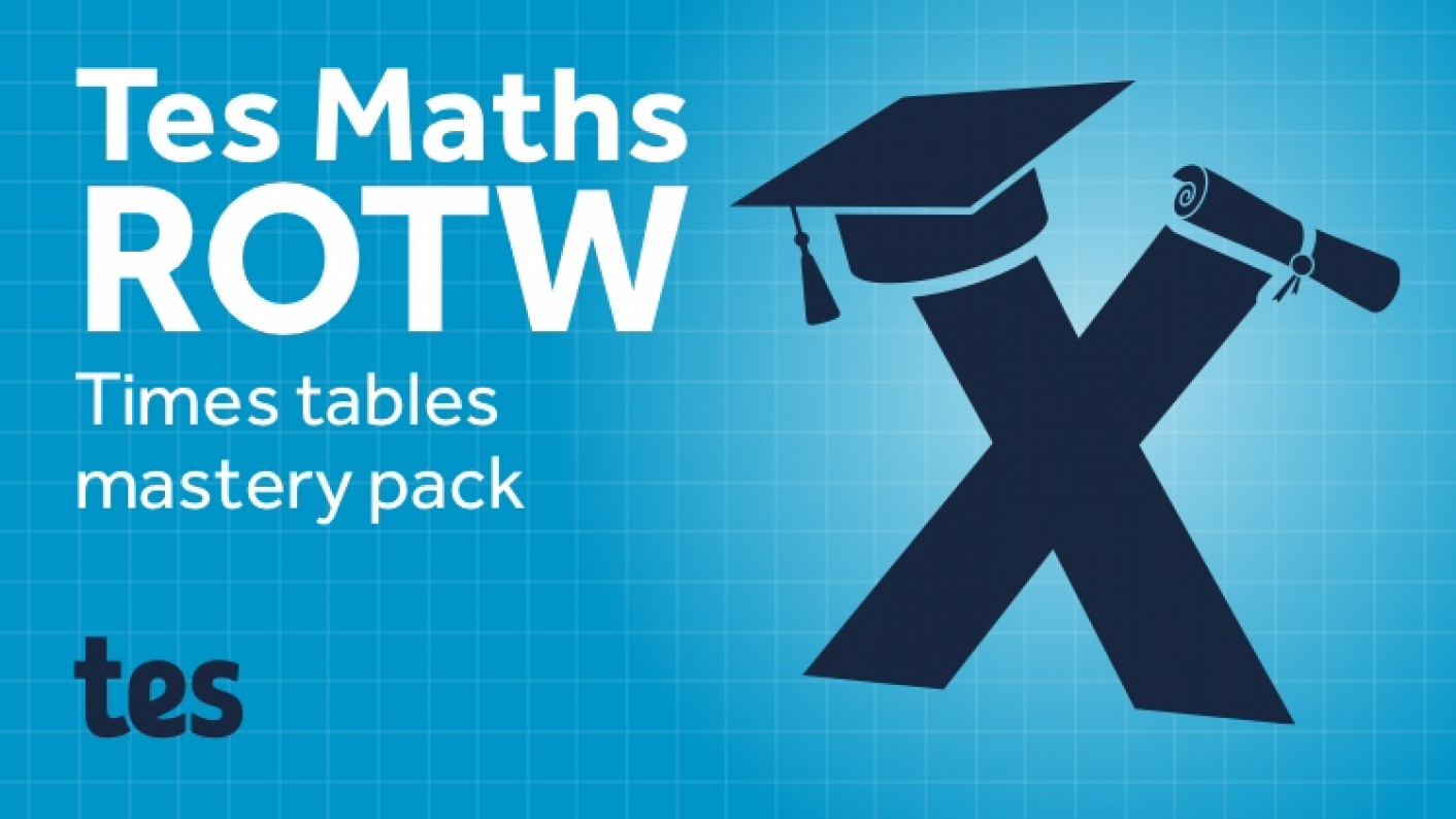 Tes Maths ROTW: Times Tables Mastery Pack