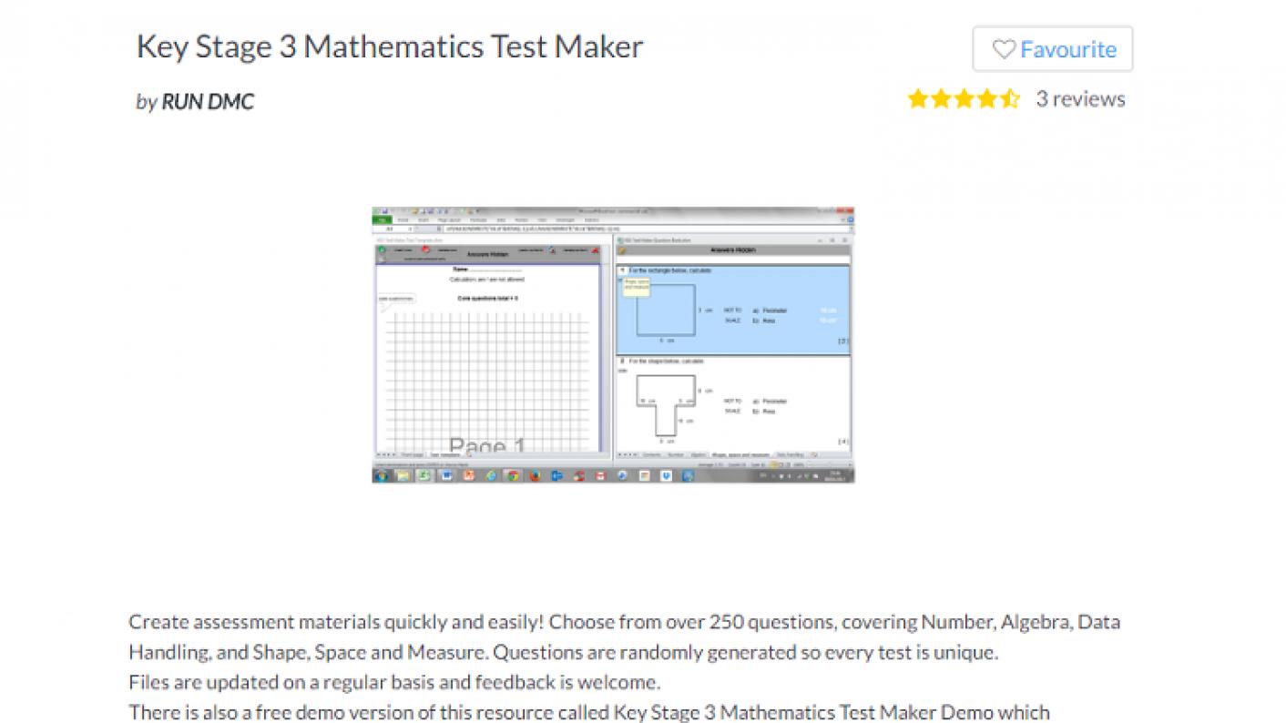 Tes Maths,rotw,maths,maths Resources,secondary Maths,ks3,ks4,gcse,test Maker,assessment,maths Questions