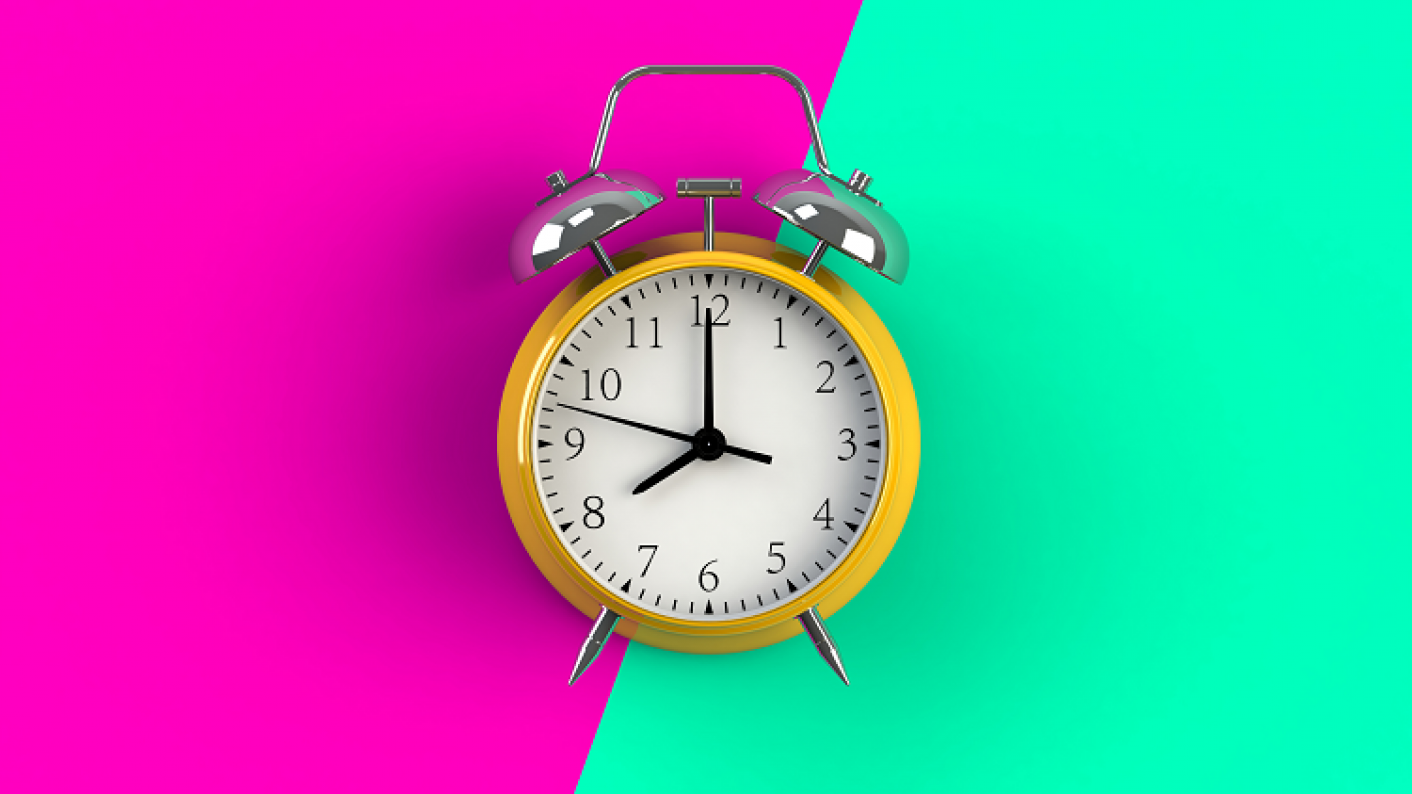 Brightly Coloured Alarm Clock To Represent KS1 & KS2 Primary Maths Lessons On The Topic Of Time